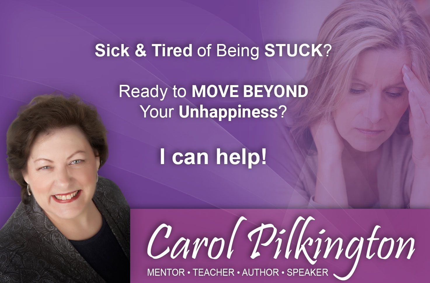 Stresss & Anxiety Specialist - Carol Pilkington